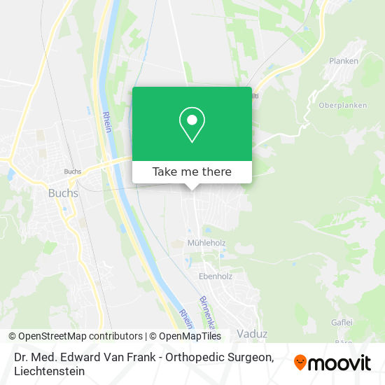 Dr. Med. Edward Van Frank - Orthopedic Surgeon map