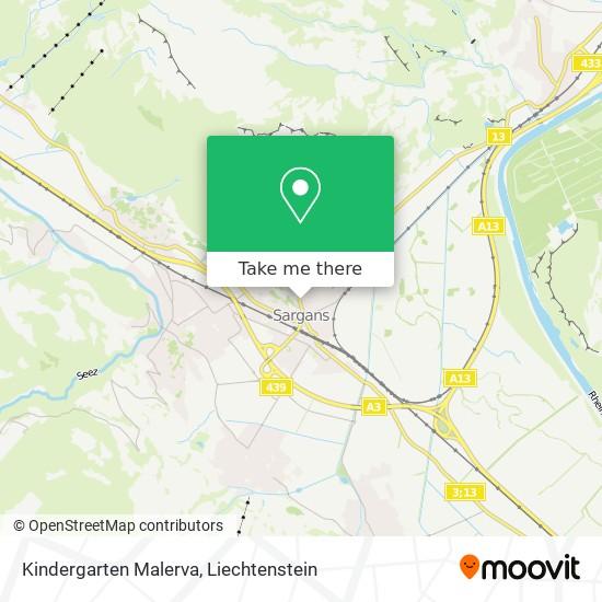 Kindergarten Malerva map