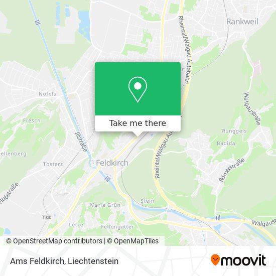 Ams Feldkirch map