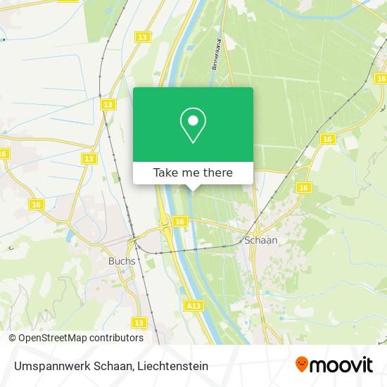 Umspannwerk Schaan map