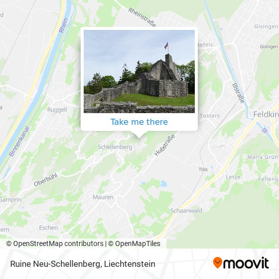 Ruine Neu-Schellenberg map