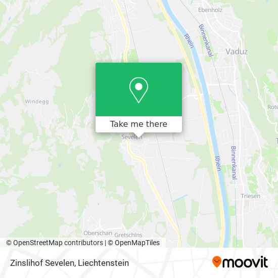 Zinslihof Sevelen map