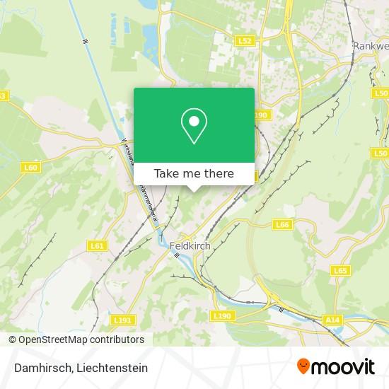 Damhirsch map