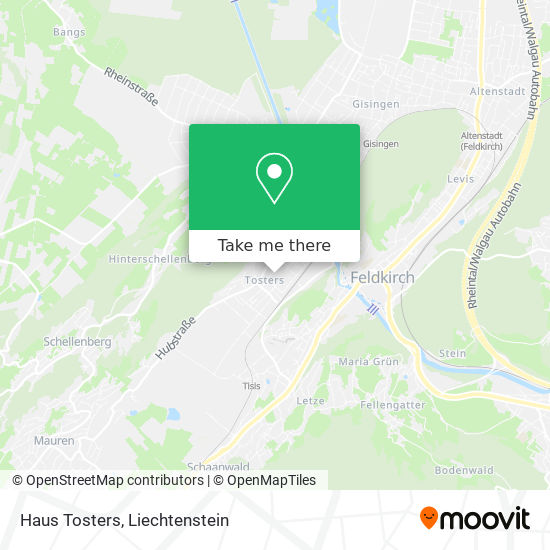 Haus Tosters map