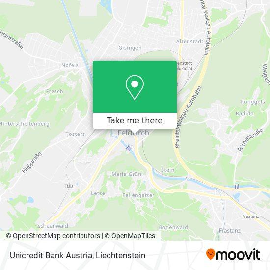 Bank Austria map