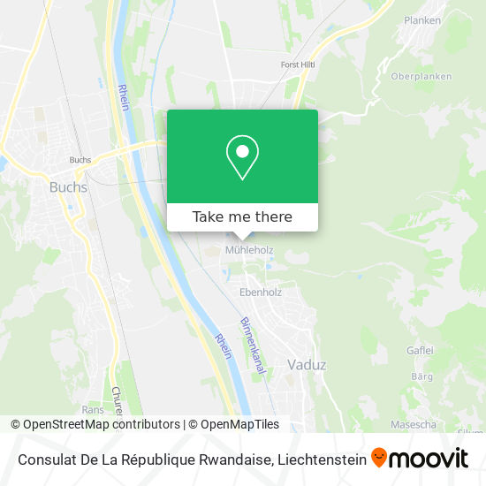 Consulat De La République Rwandaise map