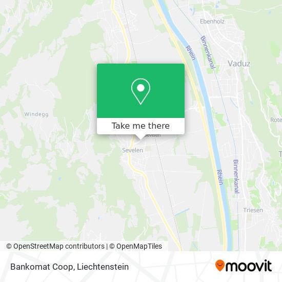 Bankomat Coop map