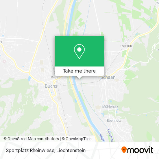 Sportplatz Rheinwiese map