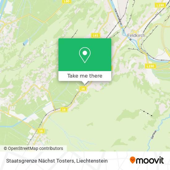 Staatsgrenze Nächst Tosters map