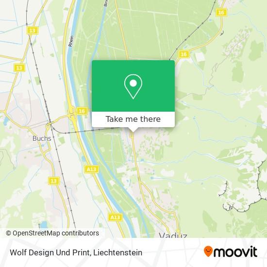 Wolf Design Und Print map