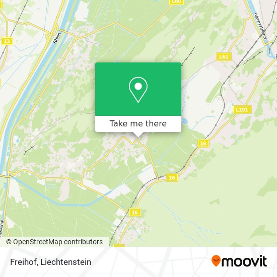 Freihof map