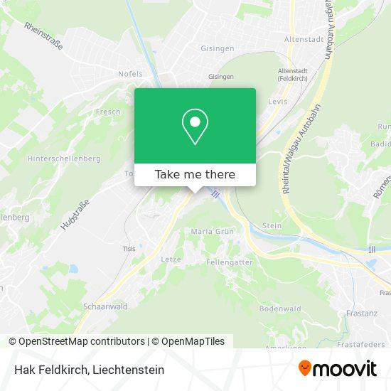 Hak Feldkirch map