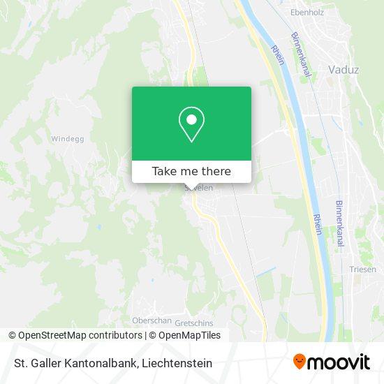 St. Galler Kantonalbank map