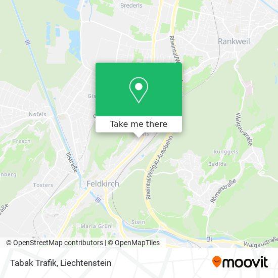 Tabak Trafik map