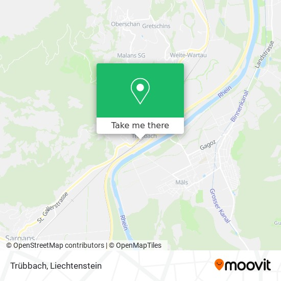 Trübbach map