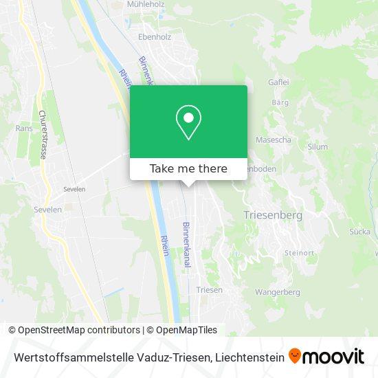 Wertstoffsammelstelle Vaduz-Triesen map