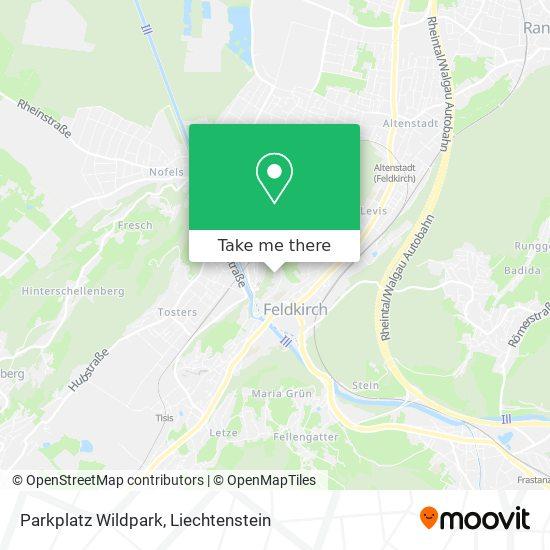 Parkplatz Wildpark map