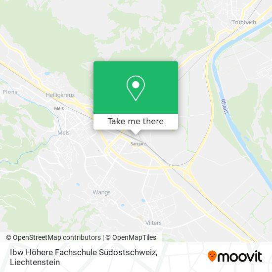 Ibw Höhere Fachschule Südostschweiz map