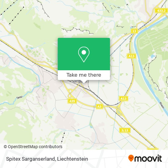 Spitex Sarganserland map