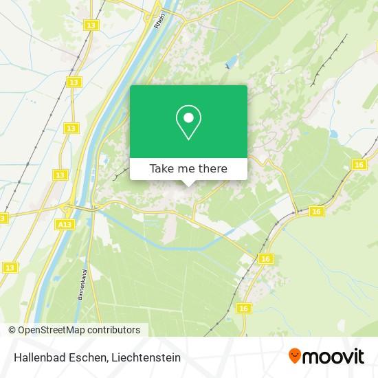 Hallenbad Eschen map