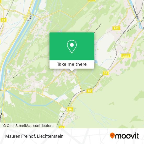 Mauren Freihof map