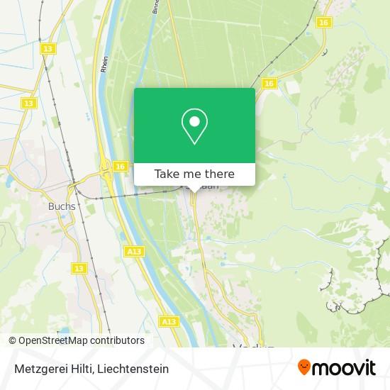 Metzgerei Hilti map