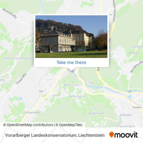 Vorarlberger Landeskonservatorium map
