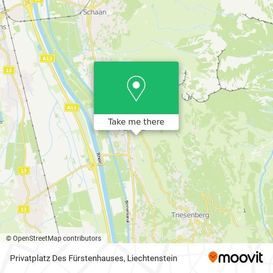 Privatplatz Des Fürstenhauses map
