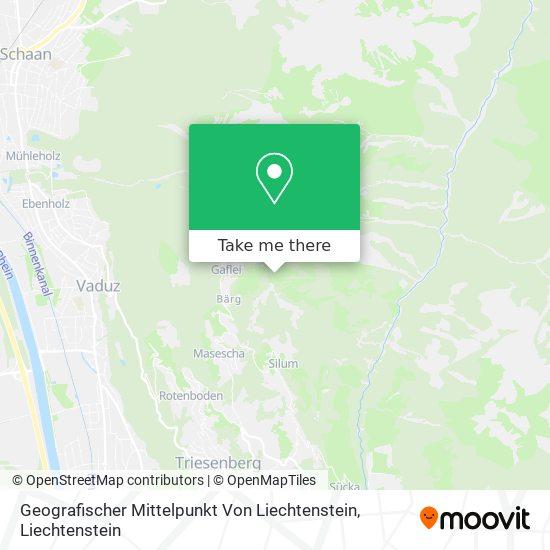 Geografischer Mittelpunkt Von Liechtenstein map