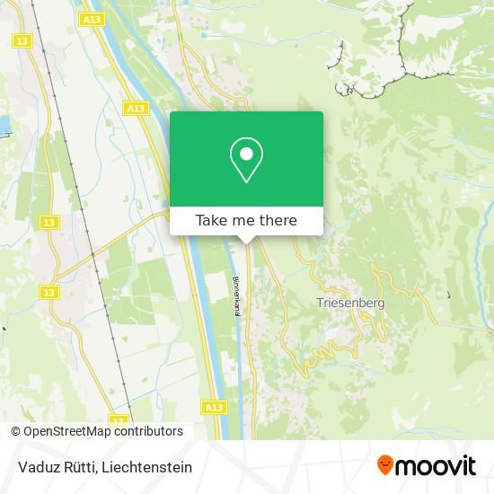 Vaduz Rütti map