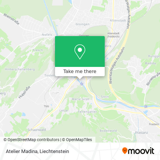 Atelier Madina map