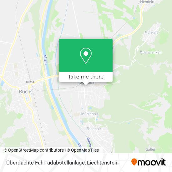 Überdachte Fahrradabstellanlage map