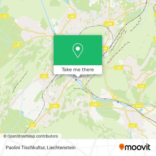 Paolini Tischkultur map