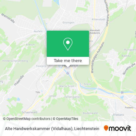 Alte Handwerkskammer (Vidalhaus) map