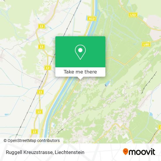 Ruggell Kreuzstrasse map