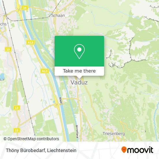 Thöny Bürobedarf map