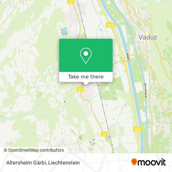 Altersheim Gärbi map
