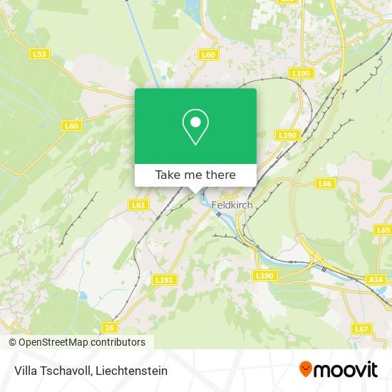 Villa Tschavoll map