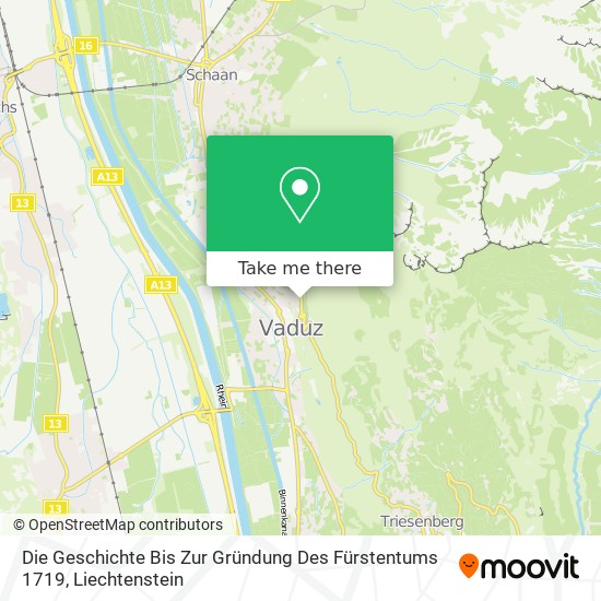 Die Geschichte Bis Zur Gründung Des Fürstentums 1719 map