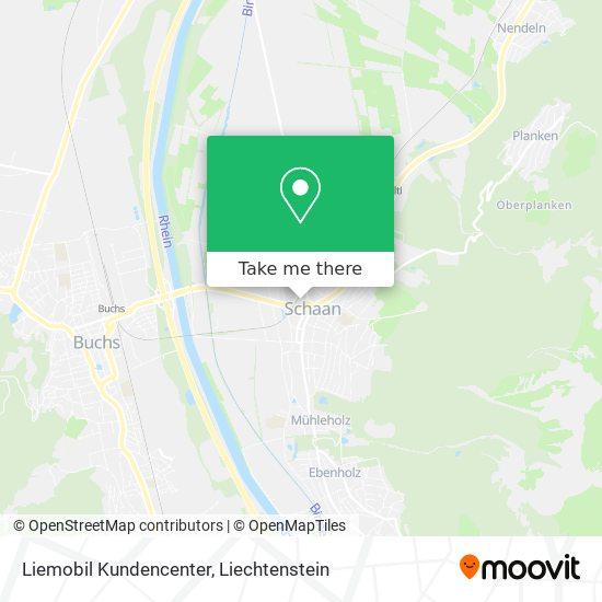 Liemobil Kundencenter map