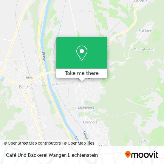 Café Und Bäckerei Wanger map