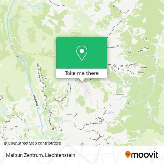 Malbun Zentrum map