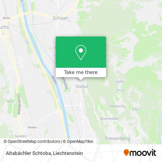 Altabächler Schtoba map