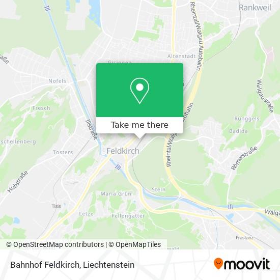 Bahnhof Feldkirch map