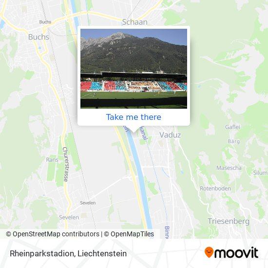 Rheinparkstadion map