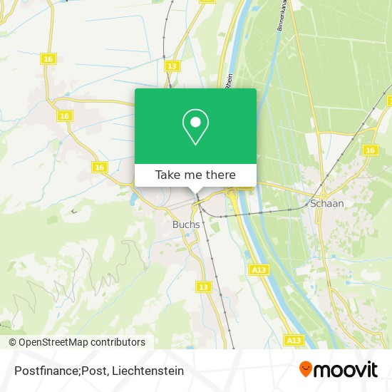 Postfinance;Post map