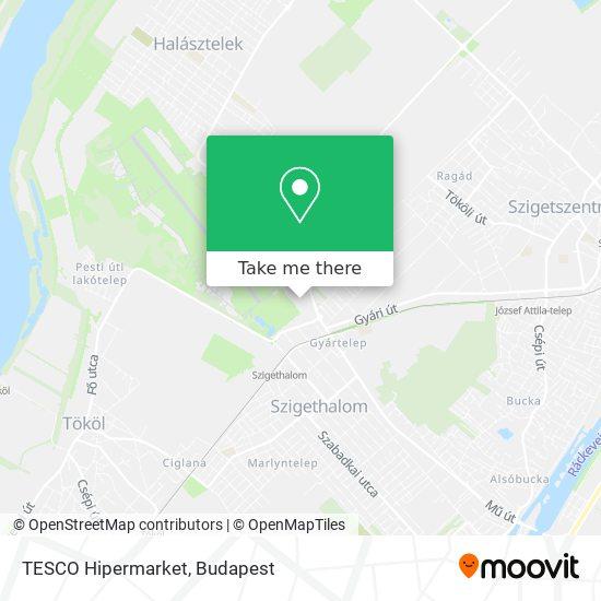 TESCO Hipermarket map