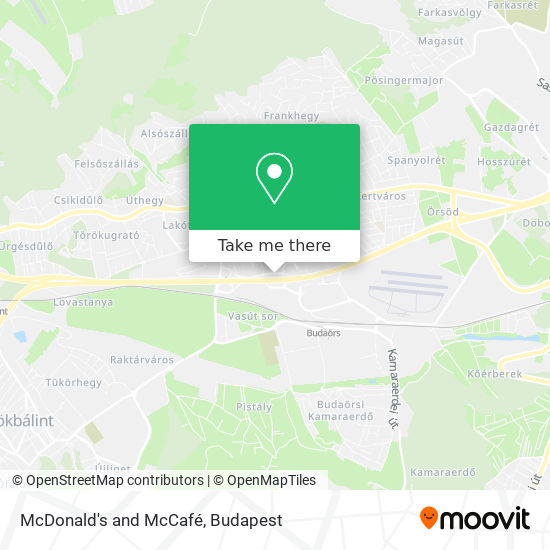 McDonald's and McCafé map