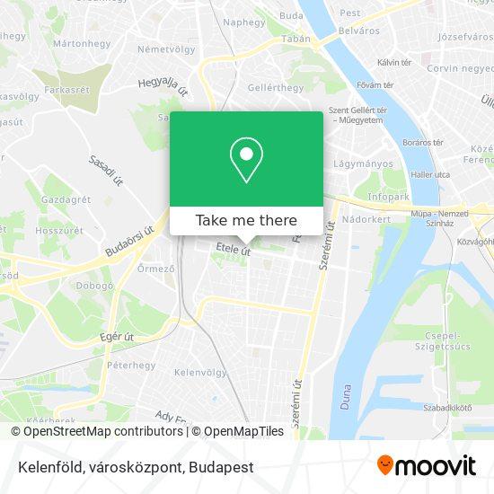 Kelenföld, városközpont map