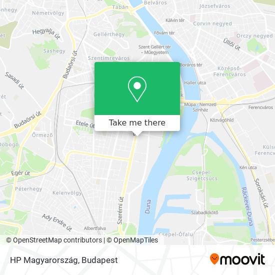 HP Magyarország map